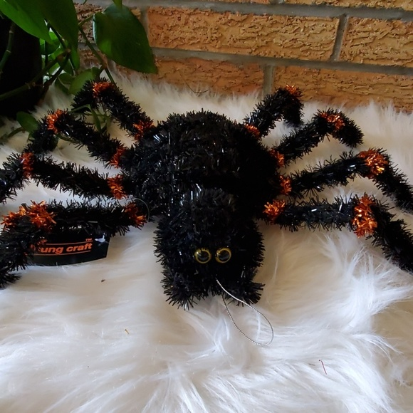 Youngcraft Halloween Spider Tinsel Decor NWT